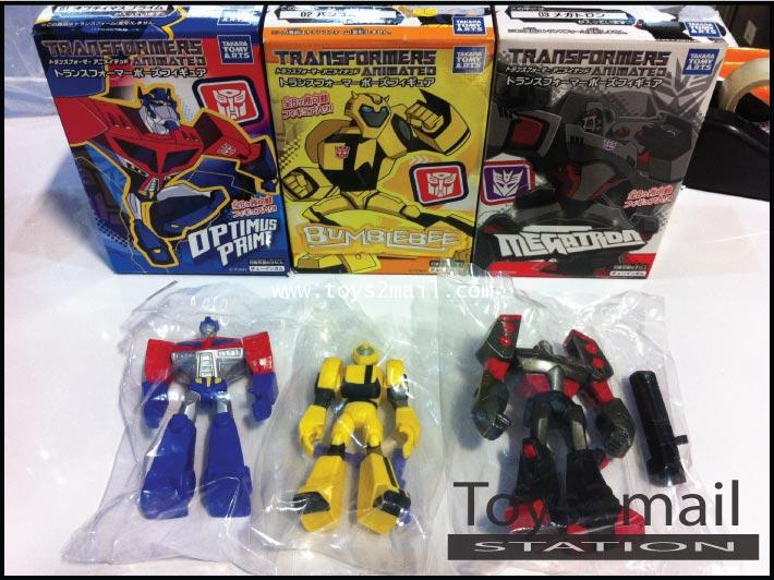 TRANSFORMER ANIMATED : CANDY TOYS ครบชุด 3 แบบ สินค้าจาก TAKARA [SOLD OUT]