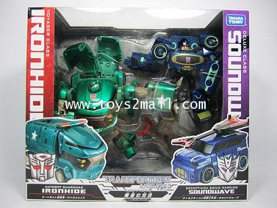 TRANSFOMERSANMATED : VOYAGER IRONHIDE vs DX SOUNDWAVE TAKARA กล่องคู่ [RARE] [SOLD OUT]