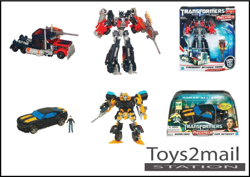CLEARANCE SALE : สินค้าล้างสต๊อก : TF 3 VOYAGER FIREBUST OPTIMUS + HA BUMBLEBEE BLACK [SOLD OUT]