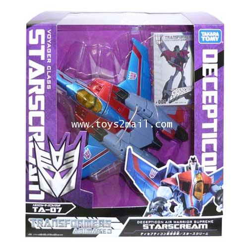 TRANSFORMERS ANIMATED :  AM-07 VOYAGER STARSCREAM จอมเจ้าเลห์ TAKARA [SOLD OUT]