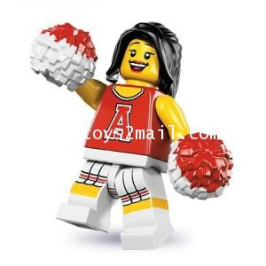 LEGO : LEGO MINI FIGURE SERIES 8 : No.13 RED CHEERLEADER [SOLD OUT]