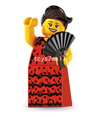 LEGO : LEGO MINI FIGURE SERIES 6 : No.6 Flamenco Dancer GIRL [6]