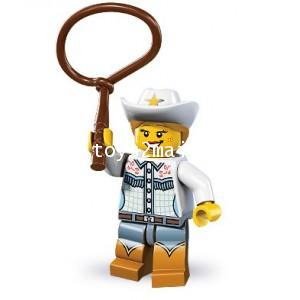 LEGO : LEGO MINI FIGURE SERIES 8 : No.04 COWGIRL คาวเกริล์นักบู้ [SOLD OUT]