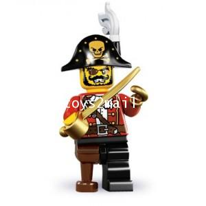LEGO : LEGO MINI FIGURE SERIES 8 : No.15 กัปตันโจรสลัด [2]