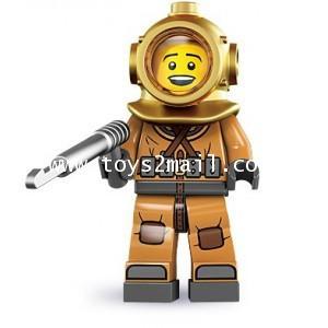 LEGO : LEGO MINI FIGURE SERIES 8 : No.06 DIVER นักดำน้ำลึก [SUPER RARE] [1]