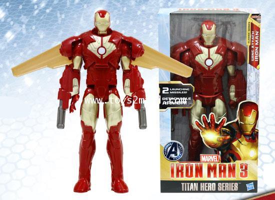MARVEL TITAN HERO SERIES : IRON MAN AIR ATTACK ARMOR PACK สูง 12 นิ้ว [SOLD OUT]