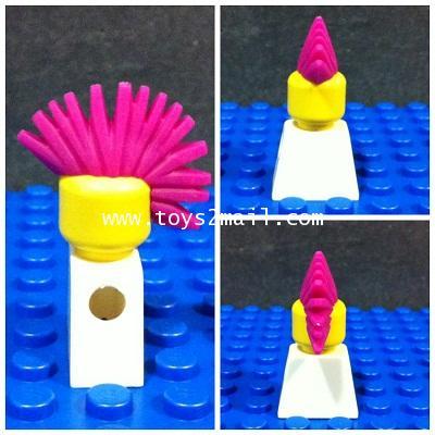 LEGO CUSTOM : PUNK HAIR PINK สำหรับเอาไปแต่งหล่อให้ LEGO MINI FIGURE [30]