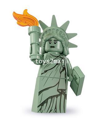 LEGO : LEGO MINI FIGURE SERIES 6 : No.04 LADY LIBERTY เทพีเสรีภาพ ของครบ ไม่มีฐาน ฝากขาย [SOLD OUT]