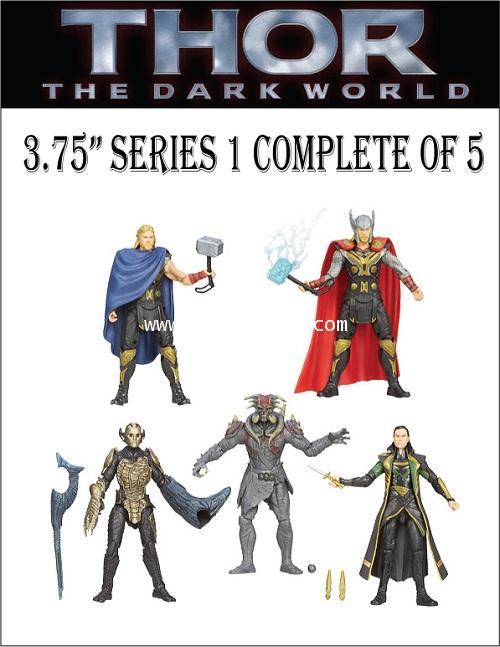 THOR 2 THE DARK WORLD : รวมฟิกเกอร์รุ่น 3.75 นิ้ว จากภาพยนต์ THOR 2 ครบชุด SERIES 1 [SOLD OUT]