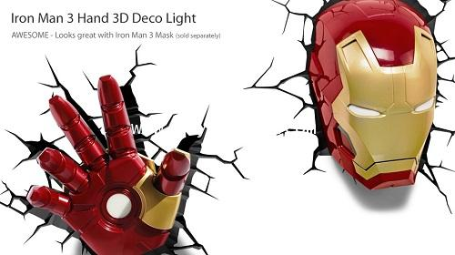 MARVEL 3D LIGHT DECOR FX : IRON MAN MK 42 โคมไฟแต่งห้องหน้าไออ้อนแมน MK 42 [SOLD OUT]