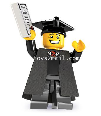 LEGO : LEGO MINI FIGURE SERIES 5 : No.01 GRADUATE STUDENT บัณฑิตใหม่หน้าใส [SOLD OUT]