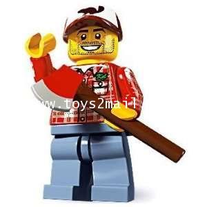 LEGO : LEGO MINI FIGURE SERIES 5 : No.08 LUMBERJACK FORESTMAN แจ๊คคนตัดไม้ [2]