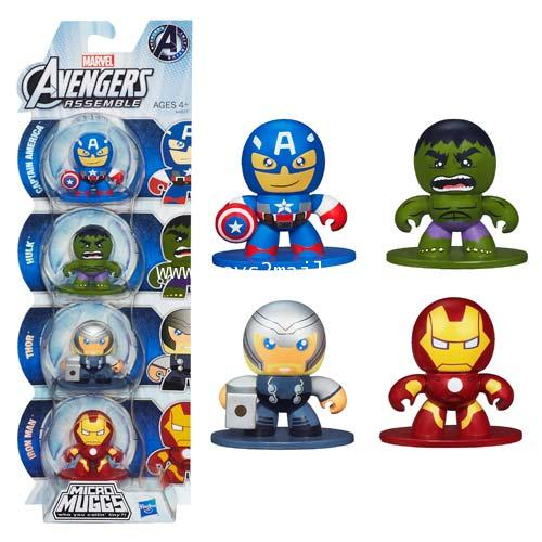 MARVEL MICRO MUGGS : AVENGERS ASSEMBLE MINI FIGURE PACK [SOLD OUT]