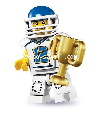 LEGO : LEGO MINI FIGURE SERIES 8 : No.05 FOOTBALL PLAYER นักกีฬาอเมริกันฟุตบอล เบอร์ 12 [SOLD OUT]