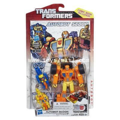 TRANSFORMERS 30th GENERATION : DX AUTOBOT SCOOP ล๊อตแถมหนังสือการ์ตูน จาก IDW [2]