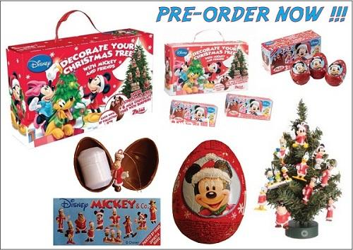 PRE-ORDER : Zaini - Christmas Tree with Mickey Mouse Milk Chocolate Egg LIMITED EDITION [SOLD OUT]