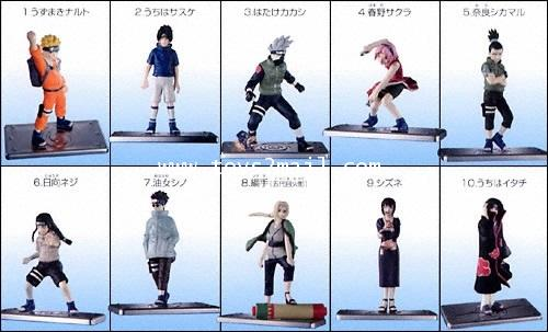 CANDY TOYS : NARUTO 2005 REAL COLLECTION Vol.7 นินจานารุโตะ ฐานเงิน ล๊อตแรก 4 จุด Bandai [SOLD OUT]