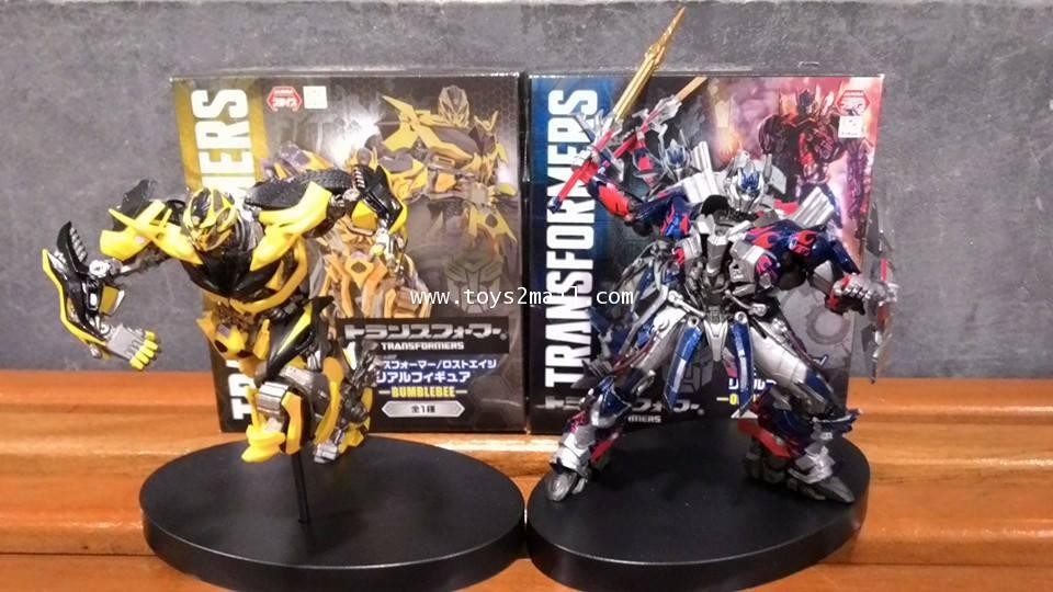 TRANSFORMERS 4 : FIGURE STAND OPTIMUS PRIME + BUMBLEBEE PRIZE Toys ขายเป็นคู่ [SOLD OUT]