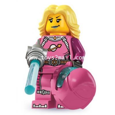 LEGO : LEGO MINI FIGURE SERIES 6 : No.13 Intergalactic Space Girl นักบินอวกาศหญิง [1]