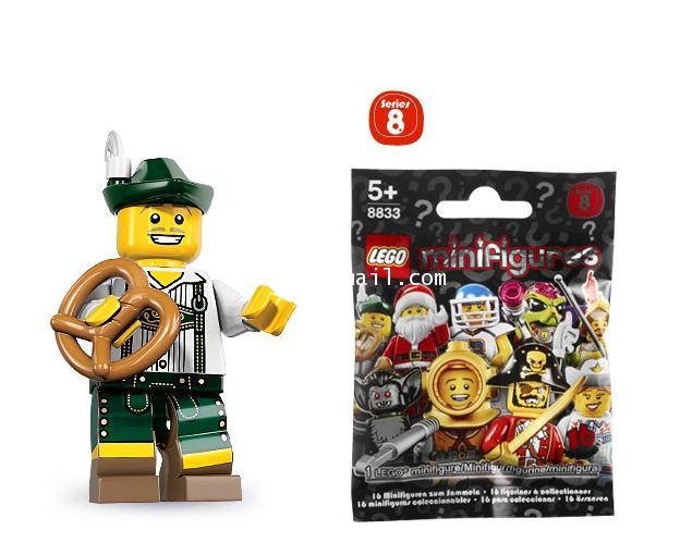 LEGO : LEGO MINI FIGURE SERIES 8 : No.03 PRETZEL GUY หนุ่มขายเพรซเซลล์ [1]