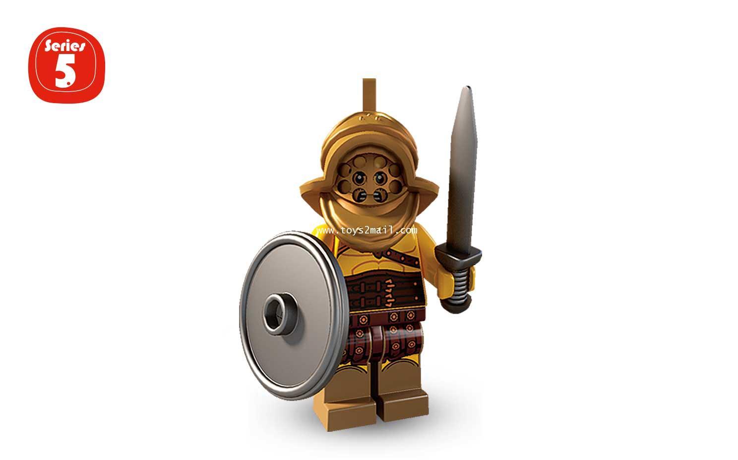 LEGO : LEGO MINI FIGURE SERIES 5 : No.02 GLADIATOR การ์ดิเอเตอร์ [SOLD OUT]