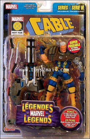 MARVEL LEGEND TOY BIZ : 2004 MARVEL LEGEND SERIES VI : X-MEN CABLE [ULTRA RARE] [SOLD OUT]