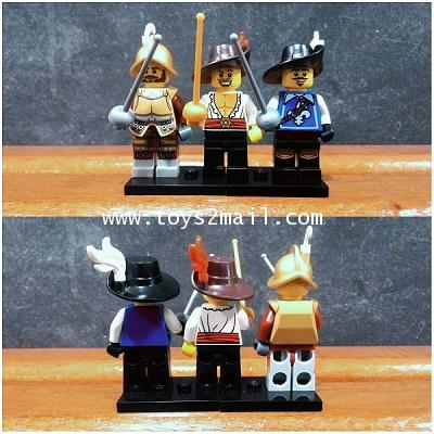 LEGO COLLECTION CUSTOM : THREE MUSKETEER SET เลโก้มินิฟิกเกอร์ชุด 3 ทหารเสือ [ 1 SET ]