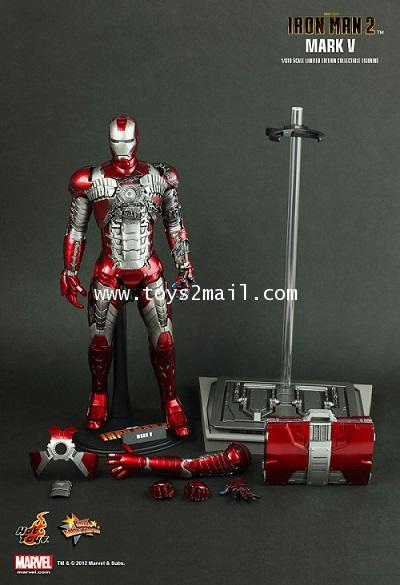 HOT TOYS : 1/6 HOT TOYS IRON MAN MK V Limited Edition 12-inch Figure from the Iron Man 2 [SOLD OUT]