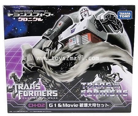 TRANSFORMERS 3 DOTM : CH-02 TRANSFORMERS CHRONICLE G1 + Movie VOYAGER MEGATRON TAKARA [1]