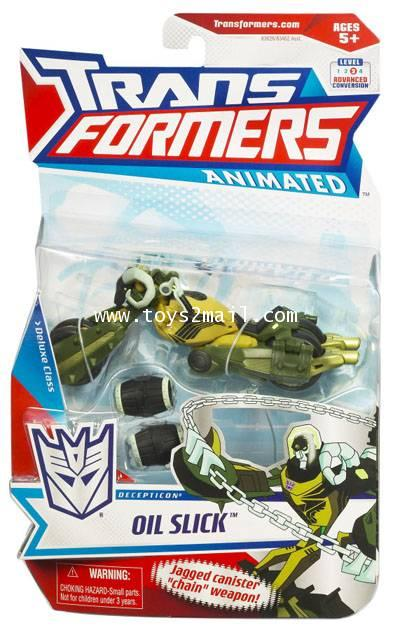 TRANSFOMERS ANMATED 2008 : DX OIL SLICK  HASBRO [SOLD OUT]
