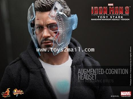 HOT TOYS : 1/6 HOT TOYS : TONY STARK THE MECHANIC 12-inch Figure from Iron Man 3 [SOLD OUT]