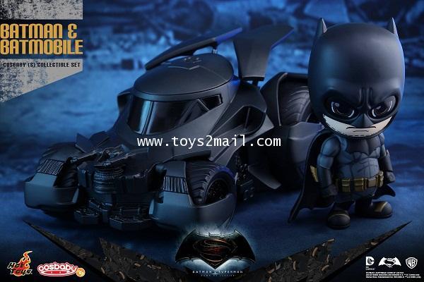 HOT TOYS COSBABY : BATMAN vs SUPERMAN Dawn Of Justic : BATMAN + BATMOBILE SET [SOLD OUT]