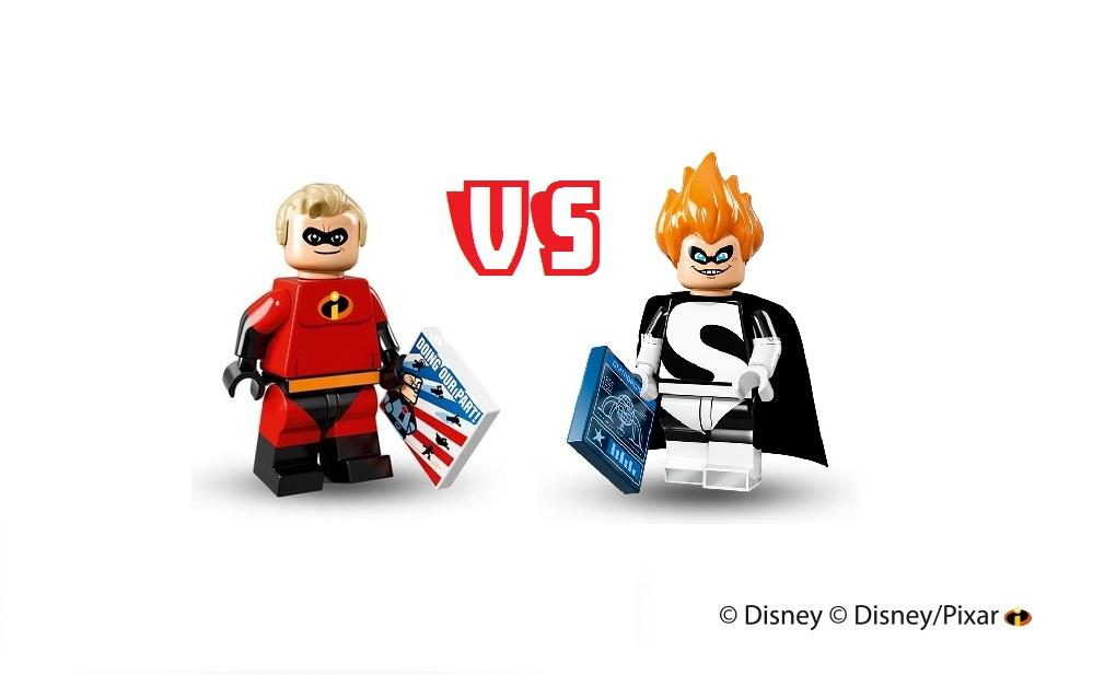 LEGO MINI FIGURE SERIES : DISNEY/PIXAR MR. INCREDIBLE vs SYNDROME [2 set]