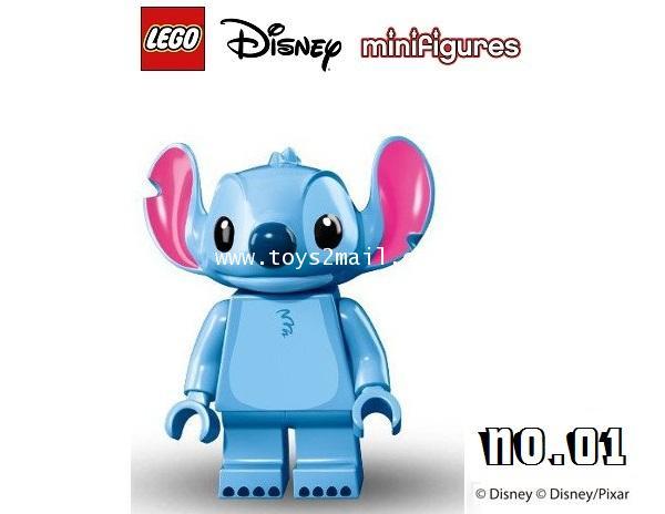 LEGO MINI FIGURE SERIES : DISNEY/PIXAR No.01 Stitch เอเลี่ยนจอมแสบ ใน Lilo and Stitch [1]