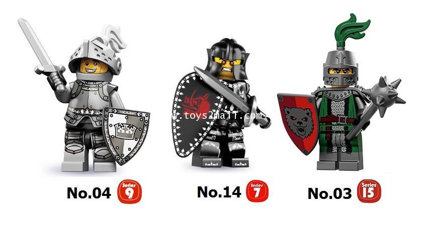 LEGO COLLECTION CUSTOM : KINGDOM KNIGHTS SET เลโก้มินิฟิกเกอร์ชุด 3 อัศวิน [1 SET]