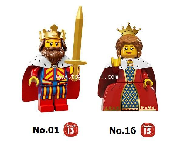 LEGO COLLECTION CUSTOM : KING  QUEEN SET เลโก้มินิฟิกเกอร์ชุด ราชาและราชินี [1 SET]