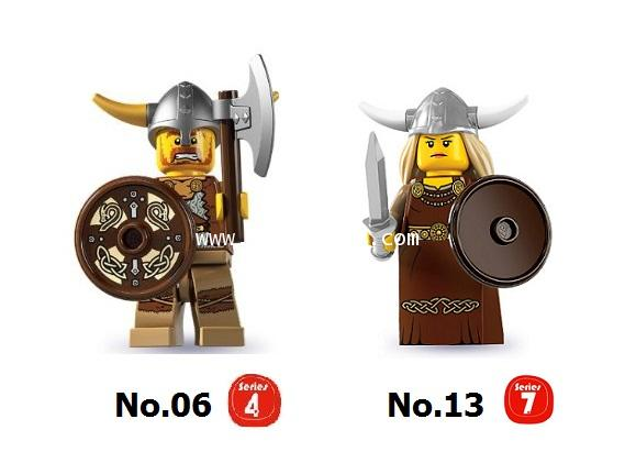 LEGO COLLECTION CUSTOM : Mr. and Mrs. VIKING SET เลโก้มินิฟิกเกอร์ชุด คุณ และ คุณนาย ไวกิ้ง [1 SET]
