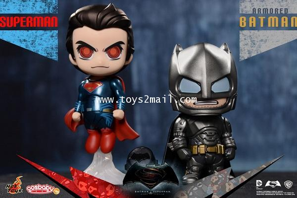 HOT TOYS COSBABY : BATMAN vs SUPERMAN Dawn Of Justic : ARMORED BATMAN  SUPERMAN (COSB197) [SOLD OUT]