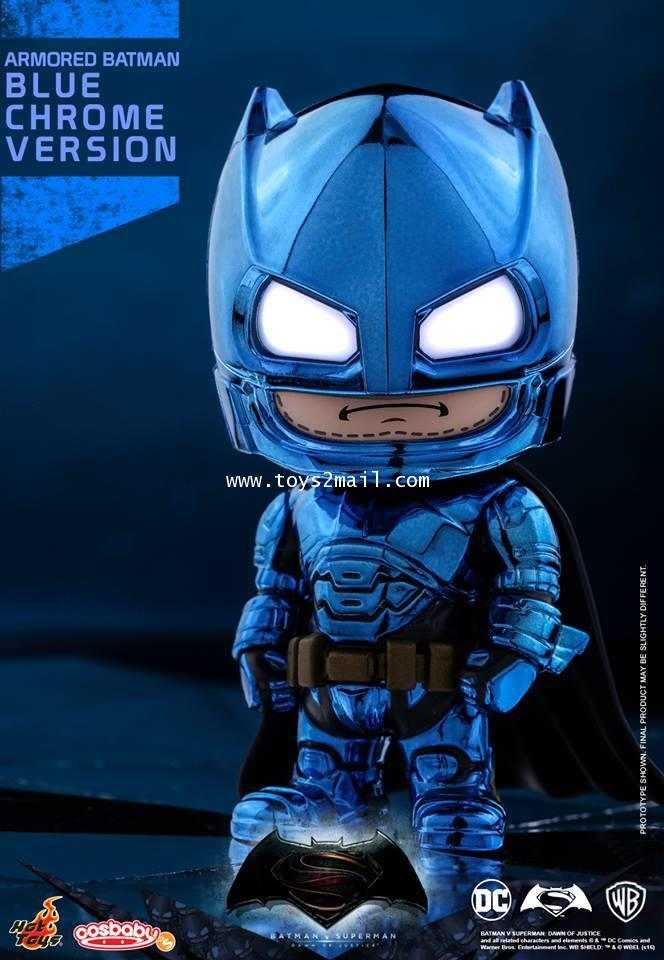 HOT TOYS COSBABY : BATMAN vs SUPERMAN Dawn Of Justic : ARMORED BATMAN (BLUE CHROME Ver.) [SOLD OUT]