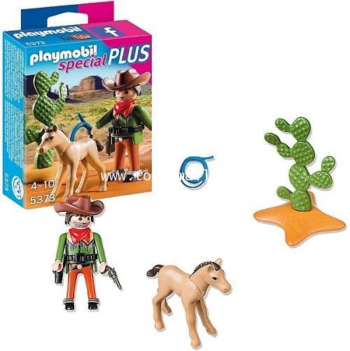 Playmobil : Playmobil Special PLUS No. 5373 : COWBOY with FOAL คาวบอย กะ ลูกม้า [1]