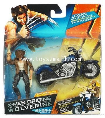 X-MEN ORIGINS WOLVERINE : 3.75 นิ้ว Comic series : LOGAN whit MOTORCYCLE Deluxe SET [1]