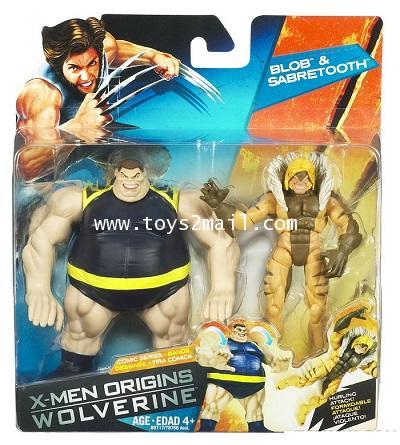 X-MEN ORIGINS WOLVERINE : 3.75 นิ้ว Comic series : BLOB  SABRETOOTH Deluxe SET [1]