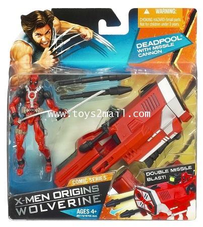 X-MEN ORIGINS WOLVERINE : 3.75 นิ้ว Comic series : DEADPOOL with MISSILE CANNON Deluxe SET [RARE] [1