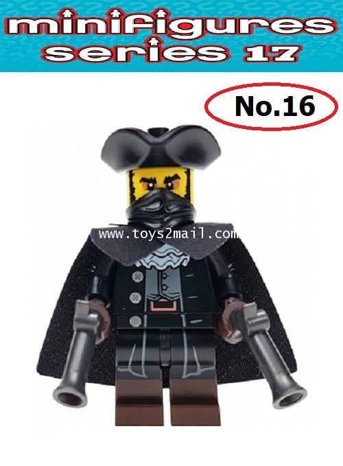 LEGO MINI FIGURE SERIES 17 : No.16 HIGHWAYMAN [Victorian Assassin] ซองสีฟ้าสดใส ปี 2017 [2]