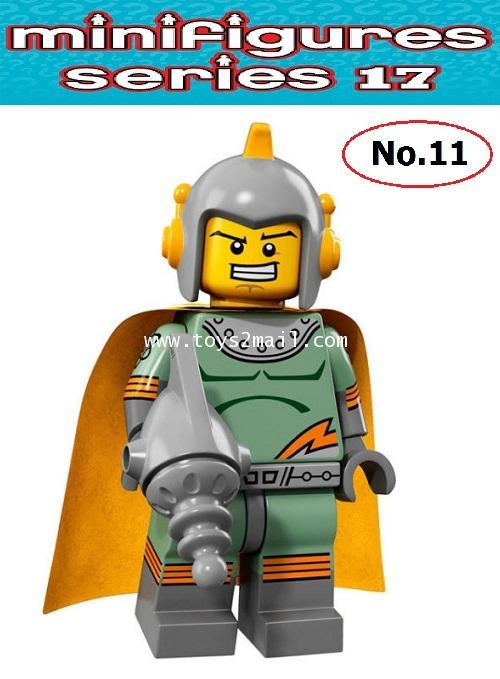 LEGO MINI FIGURE SERIES 17 : No.11 CLASSIC SPACEMAN คลาสสิค สเปซแมน ซองสีฟ้าสดใส ปี 2017 [2]