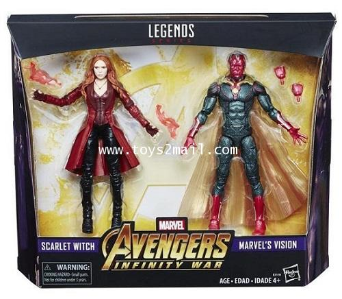 MARVEL LEGENDS 2018 : AVENGERS INFINITY WAR 2 Pack : SCARLET WITCH+VISION ToysR\'US EXCLUSIVE [SOLD]