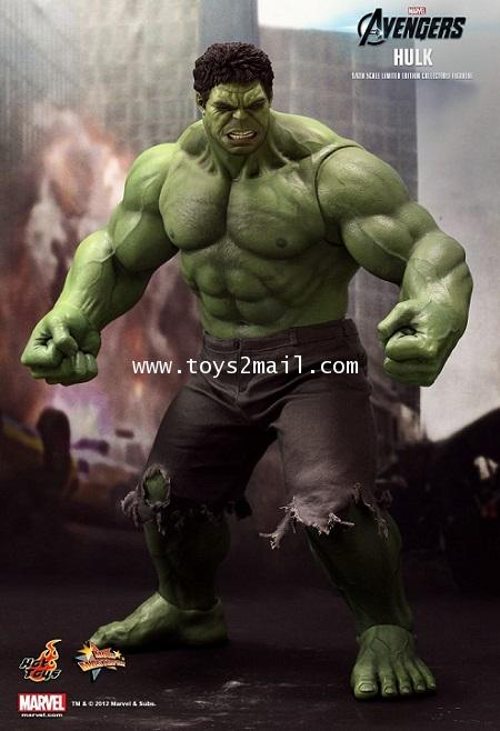 HOT TOYS : MMS-186 THE AVENGERS HULK 1/6 SCALE Limited Edition 16.5 inch Collectible Figure [SOLD]