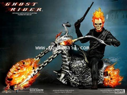HOT TOYS : MMS-133 GHOSTRIDER + HELL CYCLE 1/6 Limited Edition 12 inch Collectible Figure [SOLD OUT]