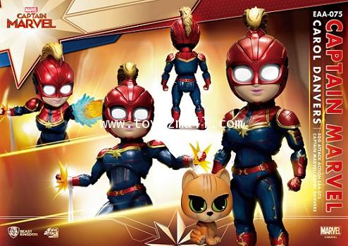 Beast Kingdom : Egg Attack Action EAA-075 : CAPTAIN MARVEL : CAROL DENVERS and GOOSE THE CAT [2]