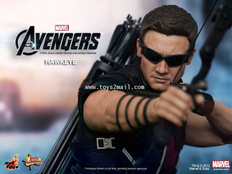 HOT TOYS : MMS172 MARVEL AVENGERS : HAWKEYE 1/6 SCALE Limited Edition 12 inch Collectible Figure [1]